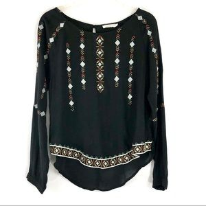 Lush embroidered top
